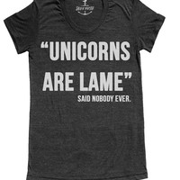 Unicorn t shirt -- american apparel S M L XL ( 1 color )