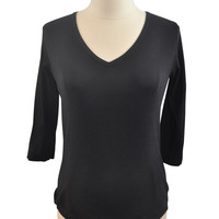 Black 3/4 Sleeve Top by Michael Stars Maternity