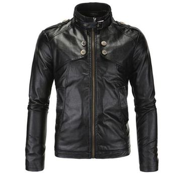Trendy New Motorcycle Jackets Men Vintage Retro PU Leather Jacket Racing Biker Punk Classical Casual Bomber Windproof Moto Jacket AT_94_13
