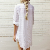 White Sage Shirt Dress