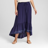 Women's Embroidered High Low Maxi Skirt - Knox Rose™