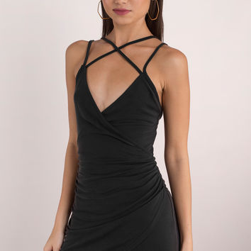Talking Body Wrap Bodycon Dress