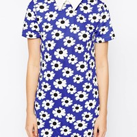 Glamorous Shift Dress with Collar Detail