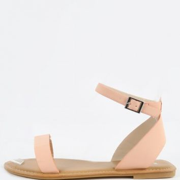 Bamboo Outlast-01 Ankle Strap Flat Sandals | MakeMeChic.com