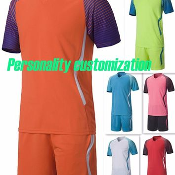 kids blank soccer sets boys football jerseys youth soccer kits sports clothing  suits running uniforms can diy  name and number