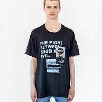 Fight Between Good and Evil Tee in Faded Black
