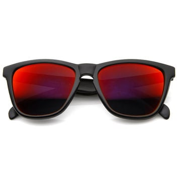 Rad Action Sports Mirrored Lens Horned Rim Sunglasses 8647