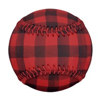 Red and Black Plaid Baseball