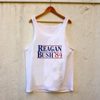 Reagan Bush '84 Election Classic tanktop for men and women