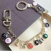 LV Louis Vuitton Classic Popular Women Personality Colorful Bracelet Hand Catenary I12695-1