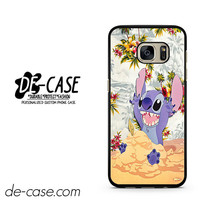 Disney Stitch Floral DEAL-3429 Samsung Phonecase Cover For Samsung Galaxy S7 / S7 Edge