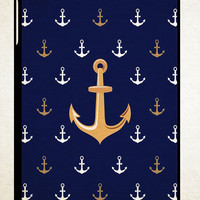 Anchor Pattern Y1269 iPad 2 3 4, iPad Mini 1 2 3, iPad Air 1 2 , Galaxy Tab 1 2 3, Galaxy Note 8.0 Cases