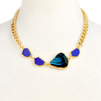 Ivana Necklace, Turquoise Fire AgateJANNA CONNER