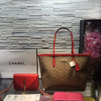 Year-End Promotion 3 Pcs Of Bags Combination (Coach Bag ,YSL Mid Bag ,Chanel Wallet)