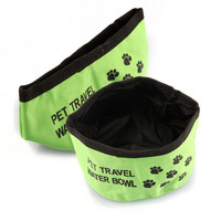 Pet Dog Cat Feeding Bowl Food Foldable Dish Outdoor Travel Camping