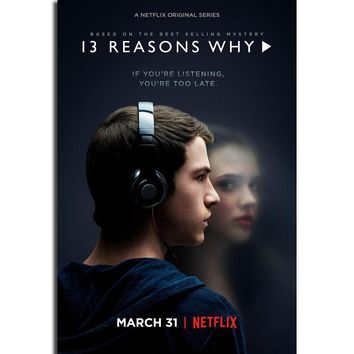 S52 13 Reasons Why Netflix TV Series Show Wall Art Painting Print On Silk Canvas Poster Home Decoration