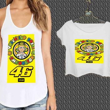 the doctor 46 valentino rossi For Woman Tank Top , Man Tank Top / Crop Shirt, Sexy Shirt,Cropped Shirt,Crop Tshirt Women,Crop Shirt Women S, M, L, XL, 2XL**