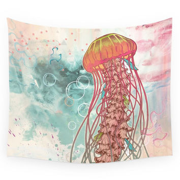 Society6 Jellyfish Wall Tapestry
