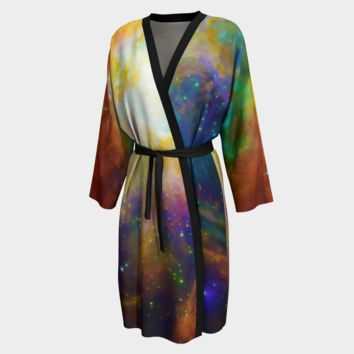 Orion Nebula Print Peignoir Robe