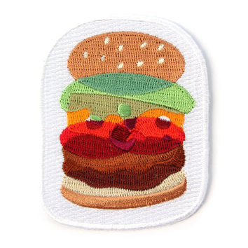 Burger Layer Iron On Patch