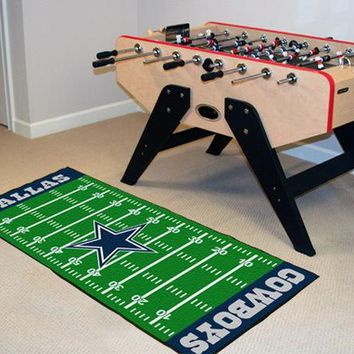 FANMATS Dallas Cowboys Field Runner Mat Area Rug, Man Cave, Bar, Game Room