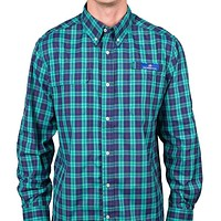 Bluefish Plaid Fishing Shirt in Blue Depths by Southern Tide