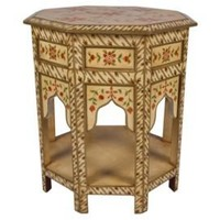 One Kings Lane - Seven Veils - Exotic Floral Side Table