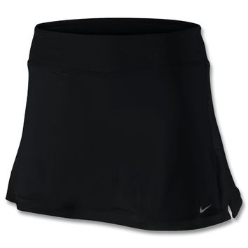 Nike Performance NEW POWER KNIT - A-line skirt - black - Zalando.co.uk