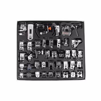 42Pcs Domestic Sewing Machine Presser Foot Feet Kit Set With Retail Box For Brother Singer Janom
