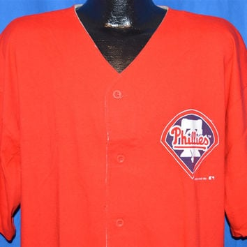 90s Philadelphia Phillies Button Front Jersey t-shirt Large