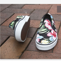"""Vans"" Casual Shoes   Lotus print  low tops Shoes"