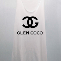 GLEN COCO CHANEL T Shirts Tank Top Tunic Blouse women handmade silk screen printing