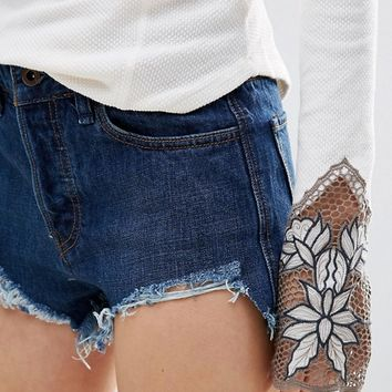 Free People Logan Denim Shorts at asos.com