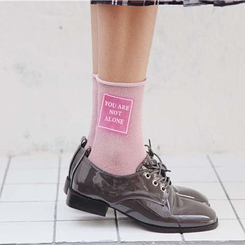 """You Are Not Alone"" Silk Socks"