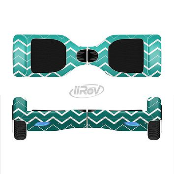 The Teal Gradient Layered Chevron Full-Body Skin Set for the Smart Drifting SuperCharged iiRov HoverBoard