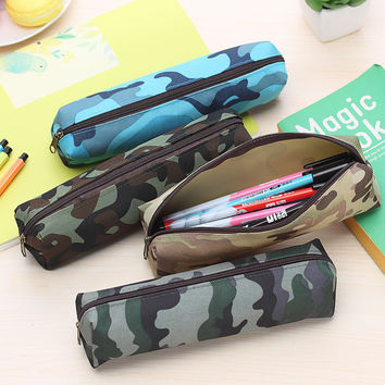 1pc Camouflage military boys school pencil case pen bag stationery pencil bags school supplies stationery bag
