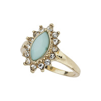 Green Vintage Look Midi Ring