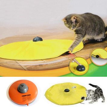 Toys For Cats Play Plate Under Cover Fabric Moving Mouse Dog Cat Toy Meow Play For Cat Kitty Funny As Seen On TV Toys Scratching