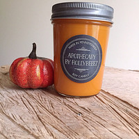 Pumpkin Pecan Waffles soy candle glass jelly jar teen room kitchen birthday gift for her organic fall autumn chef cook gift christmas stocki