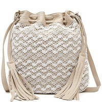 Crochet Overlay Crossbody Purse