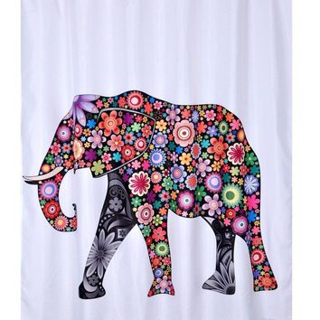 Bathroom Accessories Curtain modern Showers Polyester Elephant