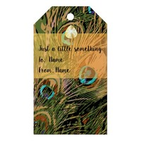Stylized Peacock Feathers Gift Tags