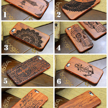 Vintage Rosewood Carve Phone Case iPhone Wooden Pattern Luxury Phone Case  iPhone 6/6s/6 Plus/6S Plus/5/5S/SE [8590841287]