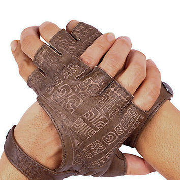 $101.55 Leather Fingerless Gloves Fingerless Gloves by eleven44jewelry