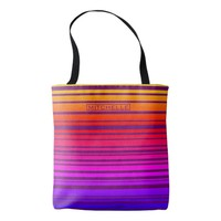 Personalized Sunset Striped Tote Bag