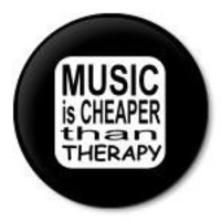 MUSIC IS CHEAPER THAN THERAPY pinback button badge 1.5 inch pin 38mm | ZippyPins - Accessories on ArtFire