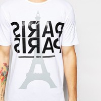 ASOS | ASOS T-Shirt With Paris Typo In Plastisol Print And Oversized Fit at ASOS