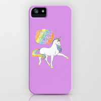 Haters Gonna Hate Unicorn (Inspired by Taylor Swift) *lilac* iPhone & iPod Case by Leigh / losinghimwasblue