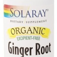 Solaray - Organic Ginger Root, 100 capsules
