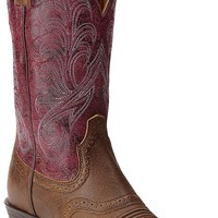 Ariat Mesquite Women's Vintage Bomber with Mulberry Top Double Welt Square Toe Western Boots